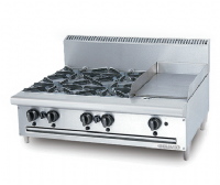 GAS OPEN 4 BURNER (1 FRY TOP)